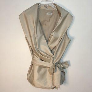 Calvin Klein Special Occasion Wrap Blouse Sz. L